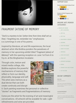 """Fragment (ation) of Memory"" Solo Show"